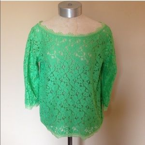 Weston Wear shear lace tee top
